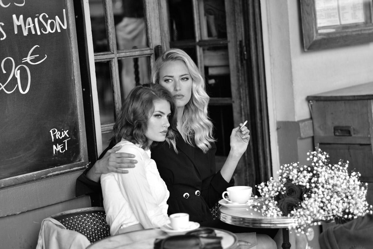 Paris Female couple Editorial - nouvelle Romance homage by Peter Mueller Photography 23