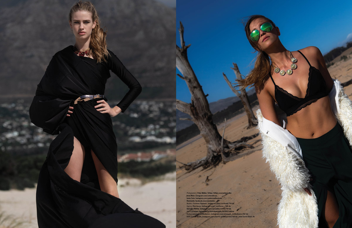 US Publication Cape Town Fashion Editorial Vivienne Jonas, Kim Hnizdo, Sam Moffath, Corinna Huebner by Peter Mueller Photography 13